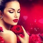 Аватар Девушка с розой у лица