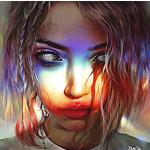 Аватар На девушку падает разноцветный свет, художник Elena Sai