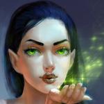 Аватар Эльфийка с зелеными глазами