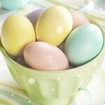 Аватар Яйца в нежных цветах лежат в блюдце