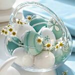 Аватар В стеклянной вазе лежат яйца с ромашками