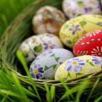 Аватар Узорчатые яйца в плетенной корзине