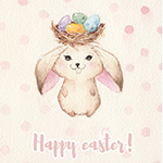 Аватар Кролик с гнездом яиц на голове (Счастливой пасхи! / Happy Easter), автор Kris Bez