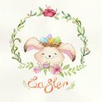 Аватар Кролик в рамке из цветов (Пасха / Easter), автор Kris Bez