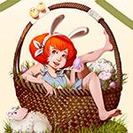 Аватар Девушка - кролик в большой корзине с яйцами, автор Carolin Reich