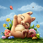 Аватар Милый кролик сидит у яиц, автор Ploopie
