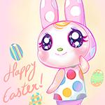 Аватар Милый розовый кролик (Счастливой пасхи! / Happy Easter), автор Kipichuu