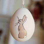 Аватар Рисунок кролика на белом яйце