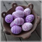 Аватар Красивые пасхальные яйца лежат в чашке
