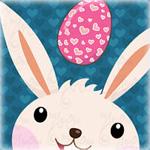 99px.ru аватар Белый кролик смотрит на пасхальное яйцо