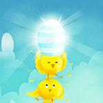 Аватар Цыпленок с яйцом стоит на другом цыпленке, автор Katja Potokar
