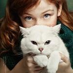 Аватар Девочка со своим котом, by Natalia Mentugova