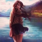 Аватар Девушка стоит на фоне воды