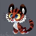 Аватар Тигренок с голубыми глазами, by JessieDrawz