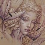 Аватар Портрет девушки с бабочками, by JenniferHealy