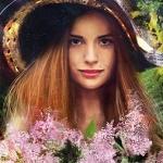 Аватар Девушка в шляпе с букетом цветов, by Berghots