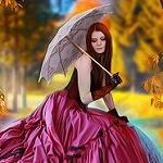 Аватар Девушка с зонтом в руке