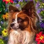 Аватар Собачка в окружении цветов, by fromNeverlend