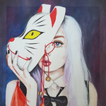 Аватар Девушка с лисьей маской, by Harumi Hironaka