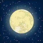 Аватар Луна в звездном небе