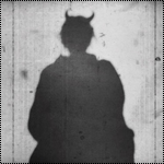 Аватар Силуэт дьявола на сером фоне