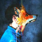 Аватар Парень в джинсовой рубашке с лисьей мордой вместо лица, by Валерия Трасатти
