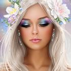 Аватар Девушка с цветами в волосах