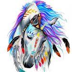 Аватар Разукрашенная голова индийской лошади с украшениями, by Katy Lipscomb