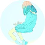 Аватар Девушка сидя в небе читает книжку