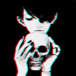 Аватар Парень с черепом в руках
