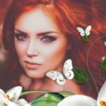Аватар Красивая рыжеволосая девушка