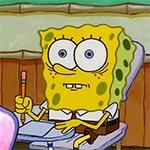 Аватар Губка боб / SpongeBob за школьной партой из мультсериала Губка Боб Квадратные Штаны / SpongeBob SquarePants