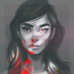 Аватар Темноволосая девушка с кровью на теле и волосах