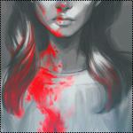 Аватар Девушка в окровавленной футболке