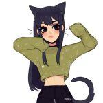 Аватар Девочка в образе кошки, by Rasbii