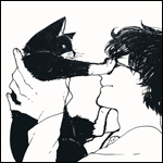 Аватар Парень в очках и кошка