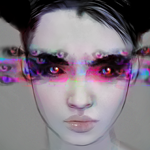 Аватар Девушка с размноженными радужными глазами, by PHAZED