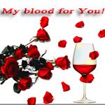 Аватар Красные розы и красное вино на белом фоне / My blood for you
