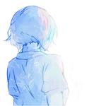 Аватар Девушка стоит спиной на белом фоне