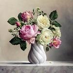 Аватар Ваза с розами стоит на мраморной плите