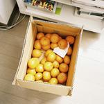 Аватар Коробка мандаринов стоит на полу у полки