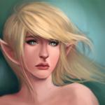 Аватар Эльфийка со светлыми волосами, by Aniviel