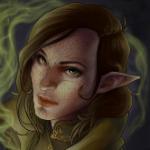 Аватар Эльфийка с разрисованным лицом / арт на игру Dragon Age, by AdMacART
