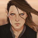 Аватар Эльф с коричневыми волосами, by Merwild