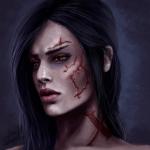 Аватар Девушка со шрамами на лице / арт на игру Mass Effect, by Jinxiedoodle