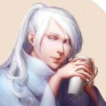 Аватар Светловолосая девушка с кружкой в руках, by katorius