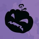 Аватар Силуэт хеллуинской тыквы со злобной гримасой