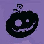 Аватар Силуэт хеллуинской тыквы с веселой гримасой