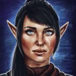 Аватар Эльфийка с темными волосами / арт на игру Dragon Age, by Felinna