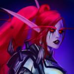 Аватар Ночная эльфийка с розовыми волосами-арт на игру World of Warcraft, by Sabalmirss